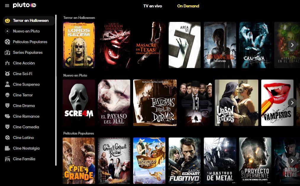 Pluto TV - Diseño Webs - Ver Televisión y Películas (GRATIS)